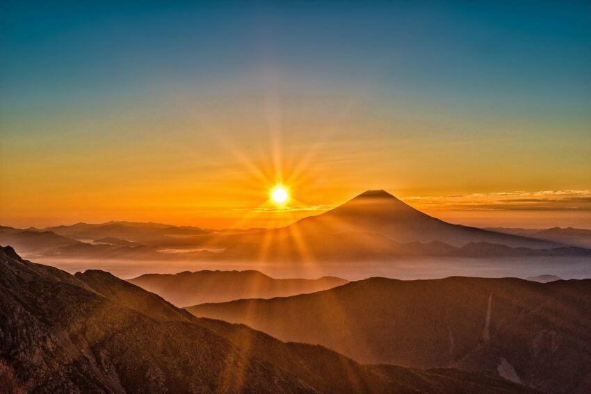 Solnedgång Kanarieöarna