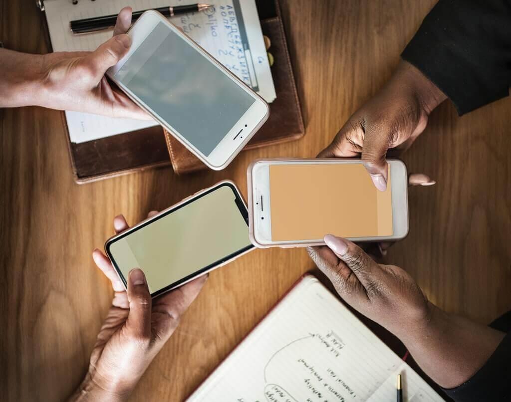 iPhone på jobbet